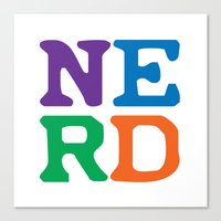 nerd Canvas Prints featuring Nerd by Jenna Allensworth