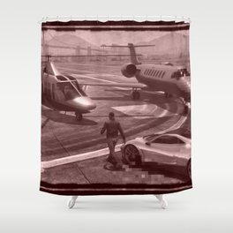 New But Old School GTA Shower Curtain