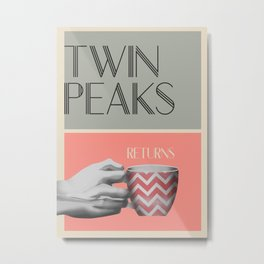 "Set of posters:""TWIN PEAKS"" Metal Print"