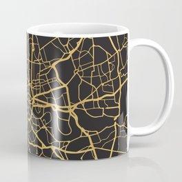 LONDON ENGLAND GOLD ON BLACK CITY MAP Coffee Mug