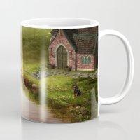 fairy tale Mugs featuring Fairy Tale by Susann Mielke
