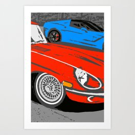 Red Jag Classic E-Type Art Print