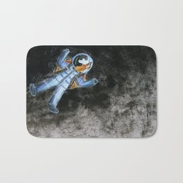 Snail in space Bath Mat