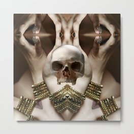 Skull Magic Metal Print