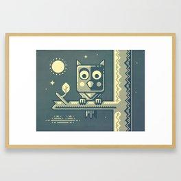 Night owl graphic design Framed Art Print