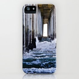 Abstract Low Tide Under Huntington Beach Pier iPhone Case