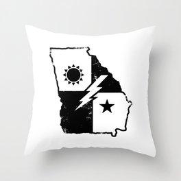 Georgia Born Army Ranger Throw Pillow