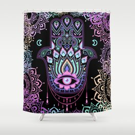 Pastel Hamsa amulet Shower Curtain