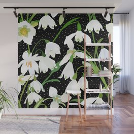 Snowdrop Floral Wall Mural
