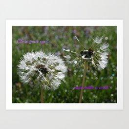 Dandelions Field Art Print