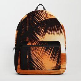 Perfect Palm Sunset (Color) Backpack