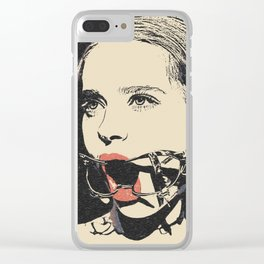 Talking heads, there is always way to change that, BDSM erotic artwork, gagged beauty portrait Clear iPhone Case