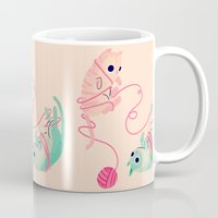 tangled Mugs featuring Tangled by Nan Lawson