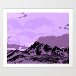 Chugach Mountains - EggPlant Pop Art Art Print