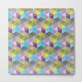 Tangrams Pattern Metal Print