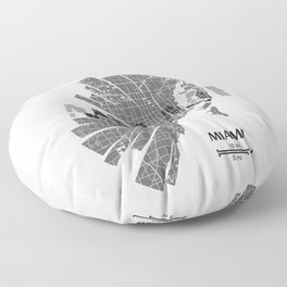 Miami Map Floor Pillow