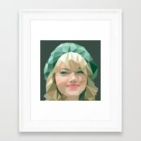 emma stone Framed Art Prints featuring Emma Stone by You Xiang