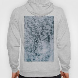 Aerial abstract Ice Patterns - Landscape Photography Hoody
