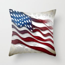Old Glory...long may she wave Throw Pillow