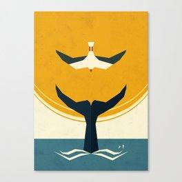 Too big a fish Canvas Print