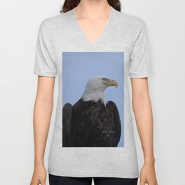 Bald Eagle on Watch along the Kenai River Unisex V-Neck