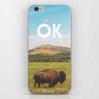 oklahoma iPhone & iPod Skins featuring Oklahoma Buffalo by Michael Roselle