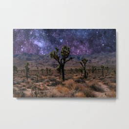 Purple Desert Galaxy Metal Print