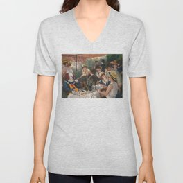 IT's Pennywise in Luncheon of the Boating Party Unisex V-Neck