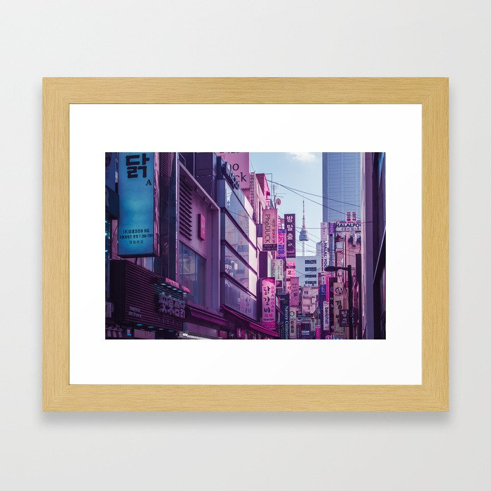 Seoul - Anime World Framed Art Print