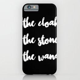 Magic cute The Cloak The Stone The Wand iPhone Case