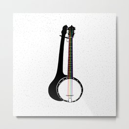Pete's Rainbow String Banjo Metal Print