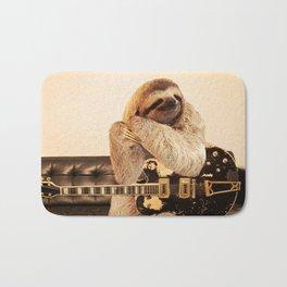 Rockstar Sloth Bath Mat