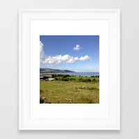 irish Framed Art Prints featuring Irish Countryside by Tru Images Photo Art