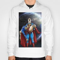 supergirl Hoodies featuring The death of Supergirl by Bungle