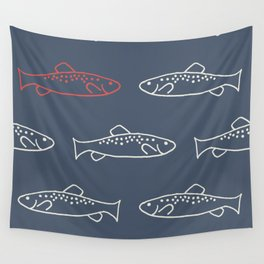Cheeky Trout Wall Tapestry