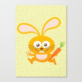 Smiling Little Bunny Canvas Print
