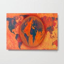 World on fire - 218 Metal Print