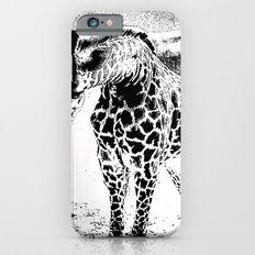 Black n White Giraffe iPhone 6 Slim Case