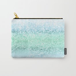 Aqua Seafoam Ocean Glitter #1 #shiny #pastel #decor #art #society6 Carry-All Pouch