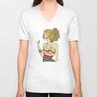 bride V-neck T-shirts featuring Sea Bride by Lilla Bölecz