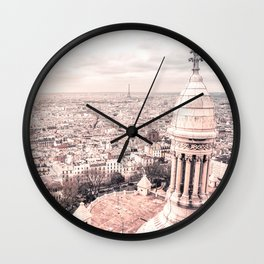 Paris from Above - View from the top of Sacre Coeur Wall Clock