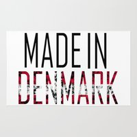denmark Area & Throw Rugs featuring Made In Denmark by VirgoSpice