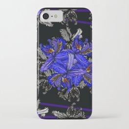 Orquids at Midnight by Mariela Miranda iPhone Case