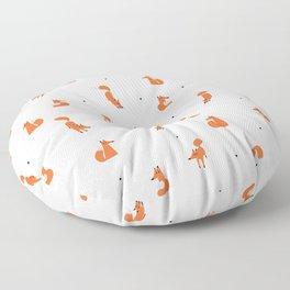 Winter foxes (white) Floor Pillow