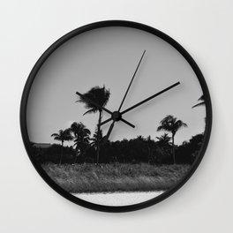 Black & White Palm Trees Wall Clock