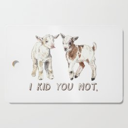 I Kid You Not: Baby Goat Watercolor Illustration Cutting Board
