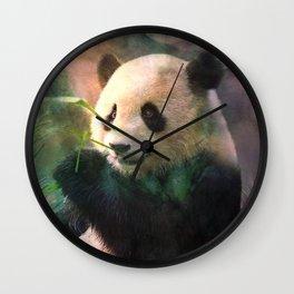 Sanctuaire du grand panda Wall Clock