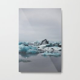 Jökulsarlón Ice Metal Print