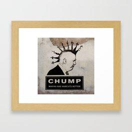 CHUMP (HAIRCUT) Framed Art Print