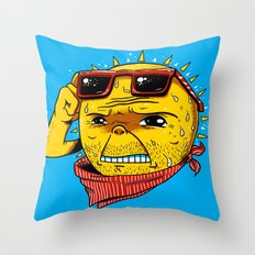 Damn, It's Hot Throw Pillow